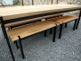 Berg Outdoor Table + Benches